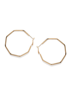Gold-Toned Circular Hoop Earrings
