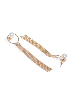 Gold-Toned Spherical Drop Earrings