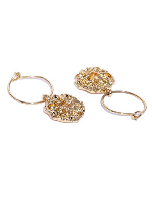 Set Of 6 Gold-Toned Circular Hoop Earrings