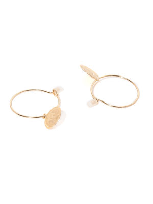 Set Of 3 Circular Hoop Earrings