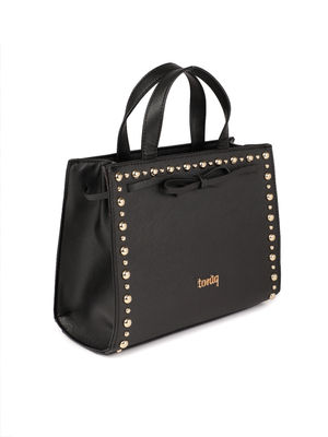 Black Studded Handheld Bag