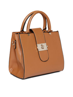 Caramel Buckle Up A-Line Bag