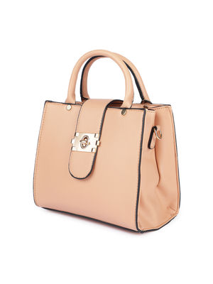 Peach Buckle Up A-Line Bag