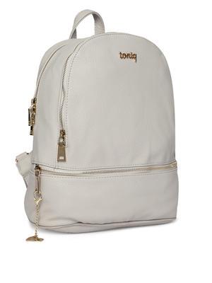 Ecru Zip Around Backpack