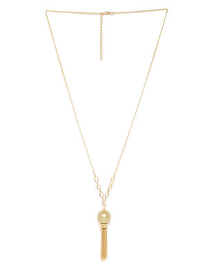 Gold-Toned Tassel Time Necklace