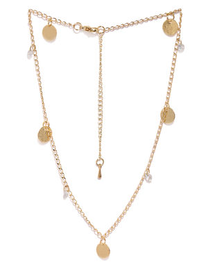 Gold-Toned Charm Necklace