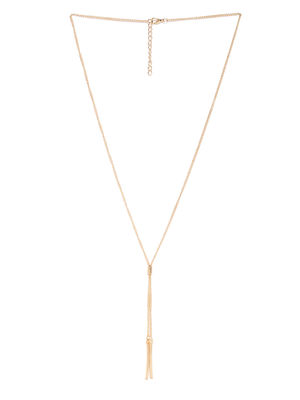 Gold-Toned Bar Chain Necklace
