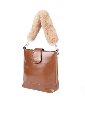 Caramel Furry Sling Bag