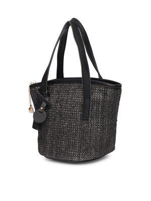 Black Texture Sling Bag
