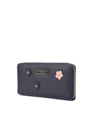Space Floral Applique Wallet