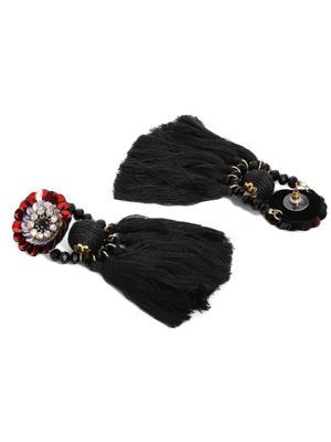 Black Contemporary Drop Earring For Women