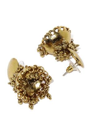 Gold Tone Jhumka Earrings For Women