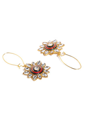 Multicoloured Petals Of Flora Drop Earrings