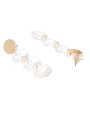 Gold Tone Circular Drop Earring For Women