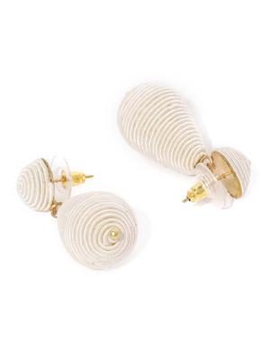 Off White Geometric Drop Earring For Women