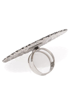 Women Oxidised Silver-Toned Finger Ring