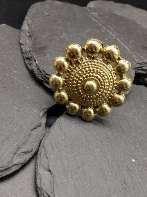 Women Gold-Toned Helia Handcrafted Finger Ring