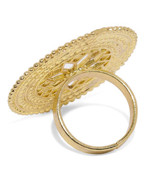 Women Gold-Toned Blooming Finger Ring