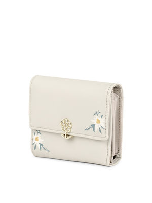 White Blooming Blossom Mini Wallet