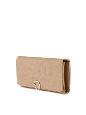 Beige Textured Corporate Lady Wallet