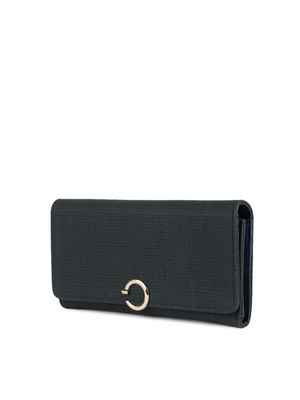 Black Textured Corporate Lady Wallet