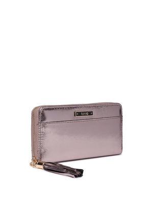 Metallic Silver Basic Wallet