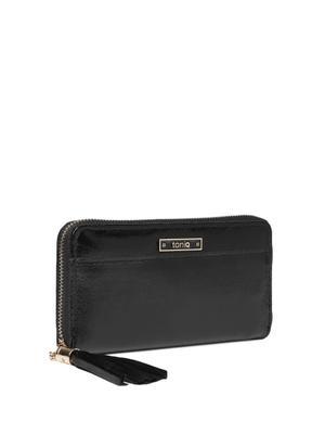 Metallic Black Basic Wallet