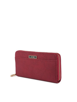 Red Textured Everyday Basic Wallet