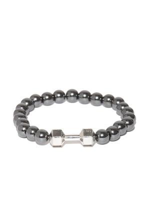 Unisex Gunmetal Beaded Bracelet For Men