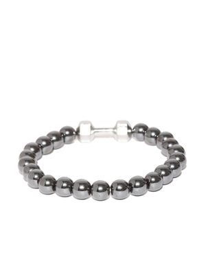 Unisex Gunmetal Beaded Bracelet For Men