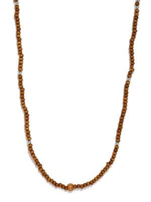 Men Brown Beaded Necklace