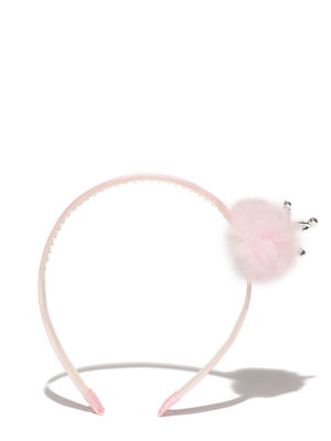 Pink Synthetic Hair Band For Girls