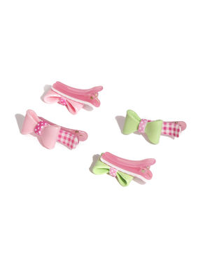 Set Of 4 Plastic Clips For Girls