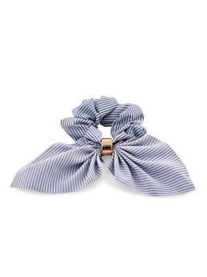 Toniq Set Of 2 Striped Bow Hair Scrunchie Rubberband For Women