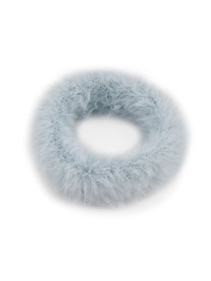 ToniQ Set Of 2 Cute Fluffy Fur Pastel Rubber Band For Women