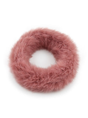 ToniQ Set Of 2 Cute Fluffy Fur Rubber Band For Women