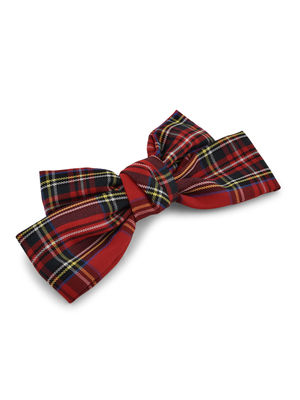 Toniq Red Holiday Plaid Barette Hair Clips For Women