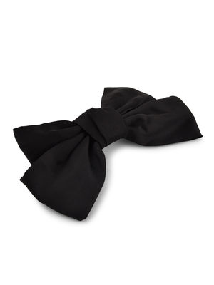 Toniq Bianca Black Satin Barette Bow Hair Clip For Women