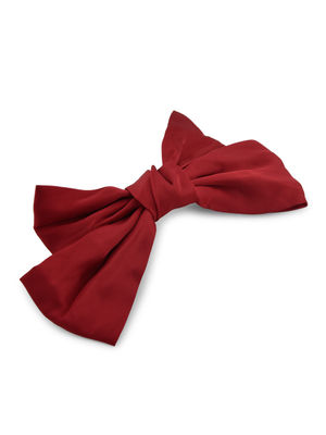 Toniq Bianca Maroon Satin Barette Bow Hair Clip For Women