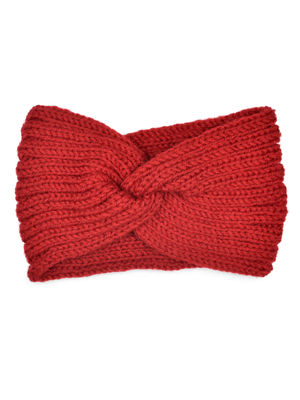 Toniq  Baby its Cold Outside  Red Twisted Head Wrap For Women