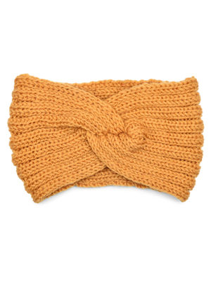 Toniq  Baby its Cold Outside  Mustard Twisted Head Wrap For Women