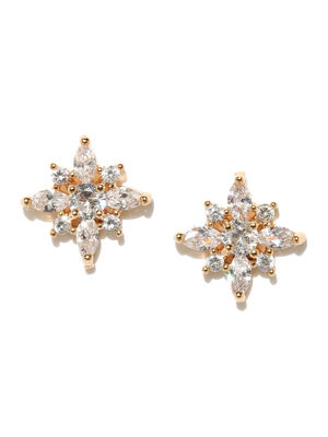 Cometa Gold Plated Stud Earrings