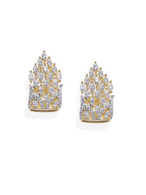 Gold-Plated Geometric Drop Earring For Women