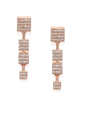 Rose Gold-Toned Quirky Drop Earrings