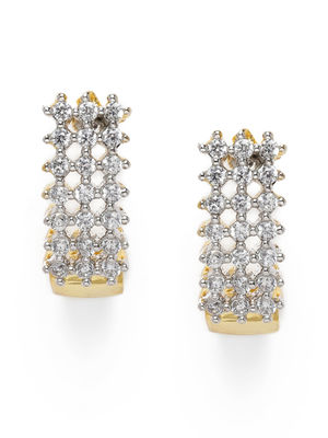 Gold-Toned Studded Geometric Studs