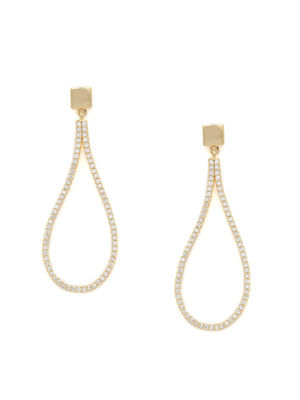 Elegant Gold & CZ Diamond Teardrop Shaped Drop Earrings for Women