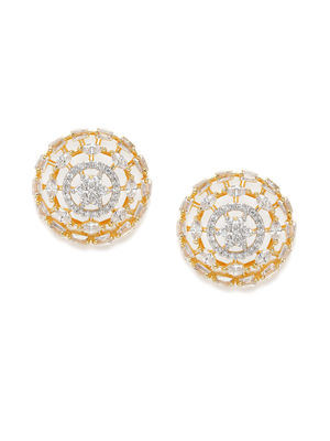 Gold-Toned Circular Oversized Studs