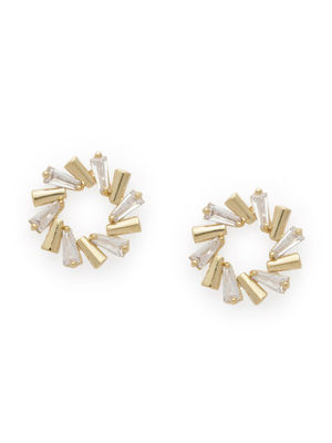 Gold-Toned Contemporary Studs