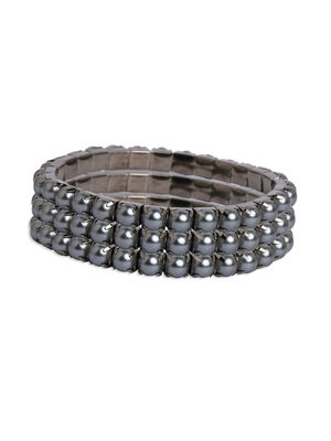 Toniq Trendy Black Set Of 3 Beaded Bracelet For Women