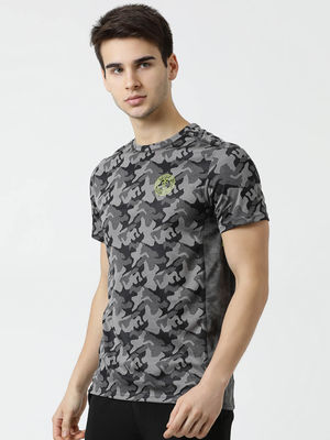 Rock.it Grey Printed Round Neck T Shirt